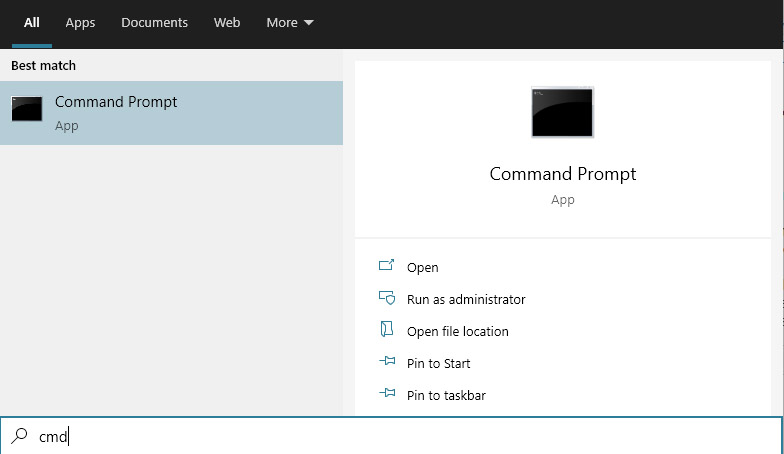 How to start Command Prompt